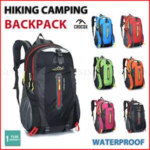 Hiking Backpack Bag Camping Water resistant Outdoor Travel Luggage Rucksack Spor