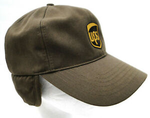 UPS fitted work cap winter fur lined Twin Hills Medium 58 CM Excellent condition