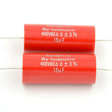 2pcs 15UF 400V Audiophiler MKP-kondensotor MKP Tubular Audio Coupling Capacitor