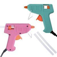 10W Hot Glue Gun Electric Trigger Adhesive Sticks For Hobby Craft Art Melt DIY