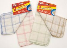 4x Kitchen All Purpose 100% Cotton Cleaning Washing Up Dish Cloths Towel Sets