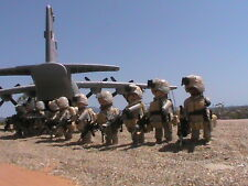 PLAYMOBIL CUSTOM AVION HERCULES C-130 + 2 PILOTOS +10 SOLDADOS REF-001