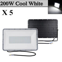 5X 200W LED Flood Light Cool White Arena Outdoor Garden Yard Spotlight IP67 NEW