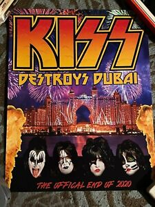 Kiss Rocks Dubai Poster New Years Eve 2020 End of the Road Tour