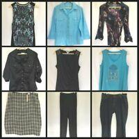 Womens Jeans Skirt Summer Blouse Size 16 Lot Sportscraft Casual Corporate #W283
