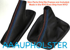 Shift Boot and E Brake Boot Set PVC Leather For BMW E46 99-04 M3 Style Stitches