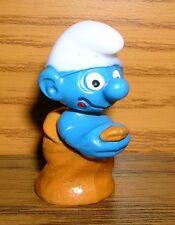Ü-Ei Ferrero Sackhüpfschlumpf glasig dunkelblau Olympiade der Schlümpfe Schlumpf