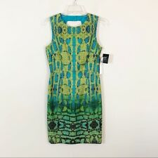 NWT Muse • Green & Blue Snakeskin Print Dress Size 6
