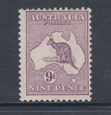 Australia Sc 9 MLH. 1913 9p purple Kangaroo F-VF