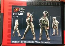 hobby fan 1/35 Modern IDF women Soldiers 2 Female Figures resin