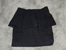 Womens size 6  black stretch peplum short skirt made by LIPSY - London