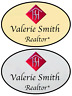 1 GOLD & 1 SILVER HOMESMART REALTY PERSONALIZED NAME BADGES SAFETY PIN FASTENER