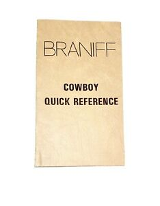Braniff Airlines Cowboy Quick Reference Guide Book Pamphlet 1981 Aviation