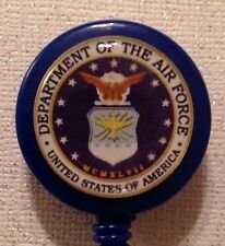 Air Force Badge Id Holder Lanyard Retractable Cord Swivel Military Handmade New