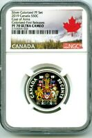2019 CANADA 50 CENT SILVER COLORED PROOF NGC PF70 UC HALF DOLLAR FIRST RELEASES