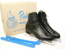 Original Riedell 220 B Women Figure Ice Skates w/ Mk Sheffield Blades Size 10 N