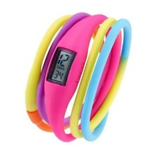 BREO ROAM TWIST UNISEX PINK SOFT RUBBER MULTI STRAP WATCH