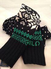 Ralph Lauren Snowflake Scarf Black Wool