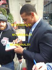 Carolina Panthers #76 GREG HARDY Signed Autographed Football COA! PROOF! KRAKEN