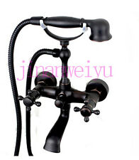 Black oil Brass Antique Bathtub Faucet With Handheld Shower Mixer H544LAU