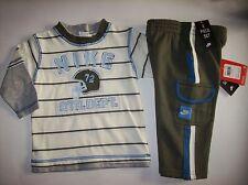 Nike Outfit Jogger Sweatsuit 2 Pc 2-Fer Shirt/Pant Set Infant Boys Sz 12 Mos NWT