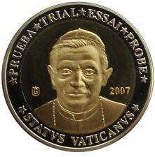 VATICANO - VATICAN 2007. 10 EURO PRUEBA TRIAL PROOF COA