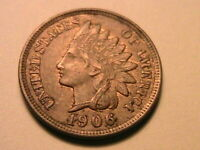 1906 Bronze Indian Head Cent Nice XF+/AU Original R&B Tone US Small Penny Coin