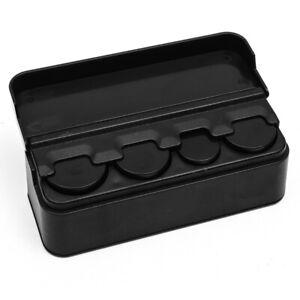 Black Plastic Car Coin Case Storage Box Container Organizer Piggy Bank Holder