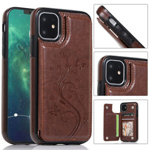 WOMEN Leather Card Wallet Stand Case For iPhone 12/11 Pro 7 8 Plus XS Max XR 6S