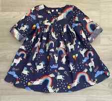 New Next Girls Baby Toddler Unicorns Rainbows Cotton Button Summer Dress 3m-7yr