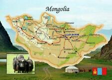 Mongolia Country Map New Postcard