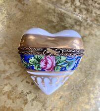 Limoges Heart shaped Trinket Box