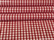 TOP QUALITY RED AND WHITE CHRISTMAS GINGHAM WOVEN FABRIC FAT QUARTERS