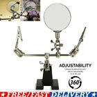 Third Hand Soldering Solder Iron Stand Holder Magnifier Helping Station Tool USA