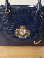 Ralph Lauren, Blue Lg. Handbag, NWT
