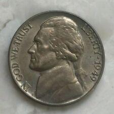 1949 Jefferson Nickel - Yellowish Toned AU