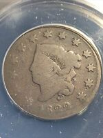 1822 Coronet Head Large Cent N-11 Anacs Ag3 Nice For Grade
