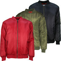 Mens New Winter MA1 Bomber Flight Jacket Coat Padded Biker Vintage Lightweight