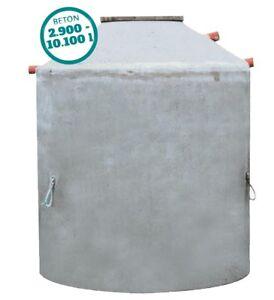 Betonzisterne 2900 - 9200 Liter, Monolith, mit begehbarer Abdeckung, Hydrophant