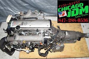 JDM Toyota 1JZGTE Vvti 2.5L Engine Wire Auto Trans Immobilized Ecu 1JZ Motor