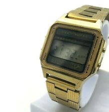ELEKTRONIKA 5 Gold Color Luxury Rare Digita USSR Chrono Alarm Retro Watch Melody