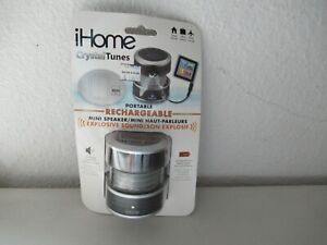 iHome Crytal Tunes Rechargeable Speaker works with any device NEW