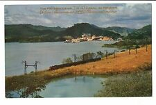 Vintage Postcard Panama Canal Miraflores Lake with Pedro Miguel Locks