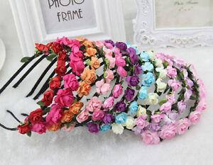 Boho Floral Flower Women Girls Hairband Headband Festival Wedding bridesmaid UK