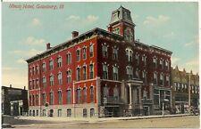 Illinois Hotel in Galesburg IL Postcard