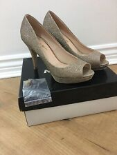 Miss KG Kurtgeiger Gold Shoes, Boxed, Size 3, Only Worn A Few Times
