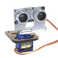 Silver HC-SR04 ULTRASONIC SENSOR KIT WITH SERVO AND RACK FOR ARDUINO ROBOT