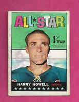 1967-68 TOPPS # 121 RANGERS HARRY HOWELL ALL STAR  GOOD CARD (INV# C6841)