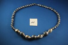 Silver and Grey bead Necklace 24 inches long  (25)