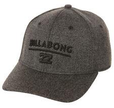 """CAP BILLABONG NEW MENS HAT BOYS BLACK HEATHER """"UNITY"""" MEN FITTED FLEXFIT L - XL"""